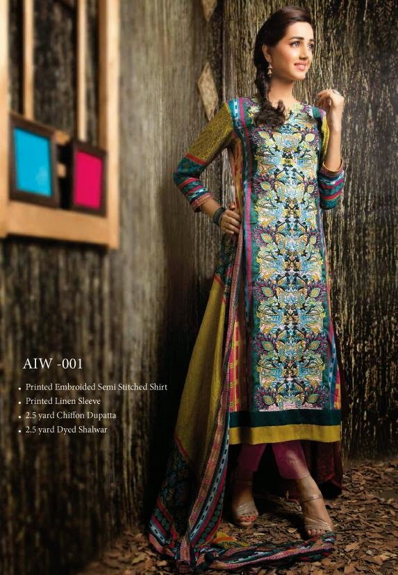 Semi Stitched Winter Collection by Amna Ismail