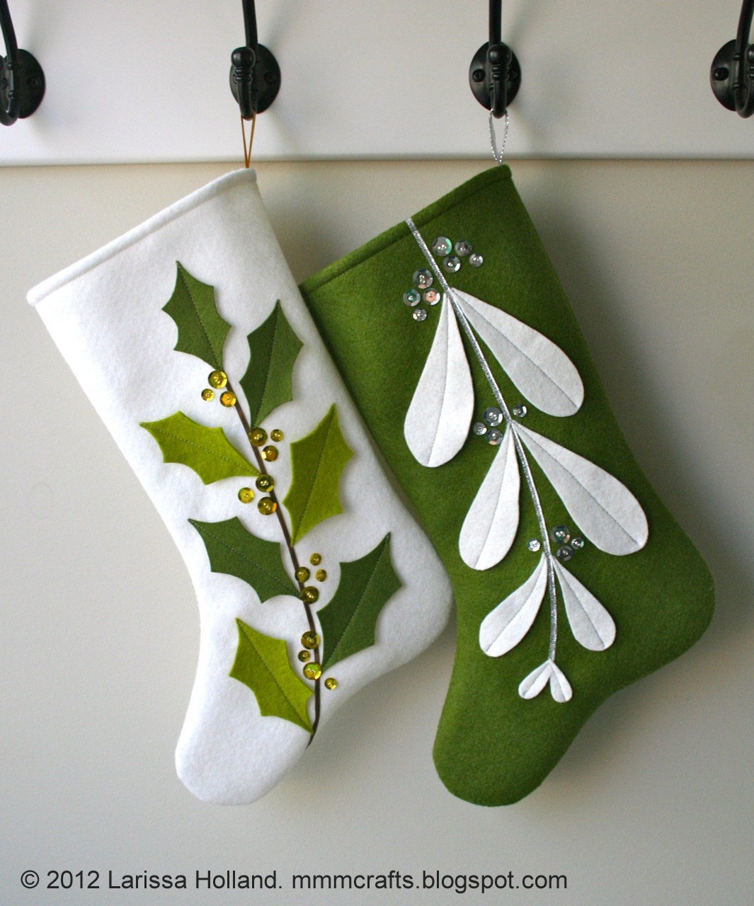 Mmmcrafts Mistleholly Felt Stocking Pattern Now Available
