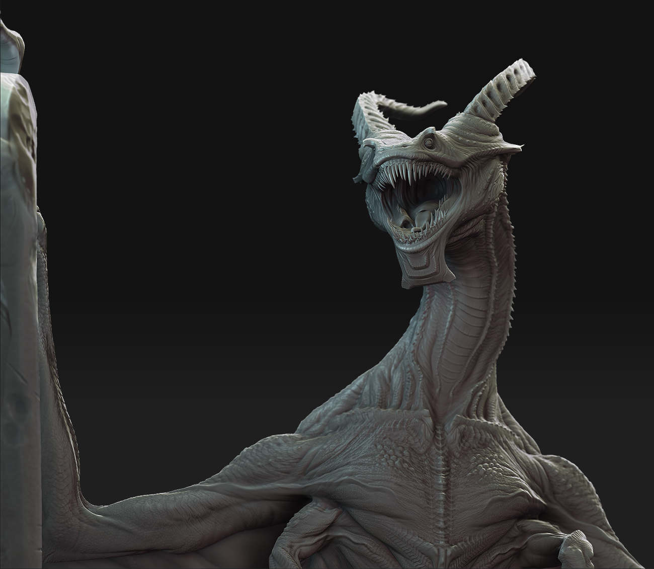 The Art Of A Raptor King Under The Mountian Cg Hub 3d