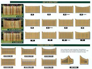 Схемы деревянного забора. Фото 4