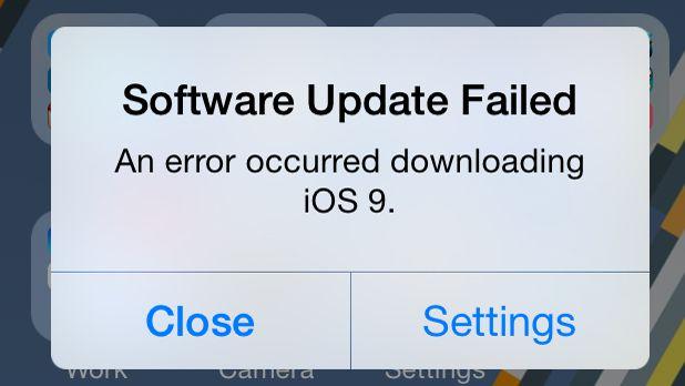 A Apple admite iOS 9 tem um terceiro problema