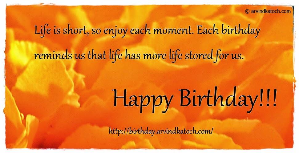 life, moment, birthday, Happy Birthday, Birthday Card