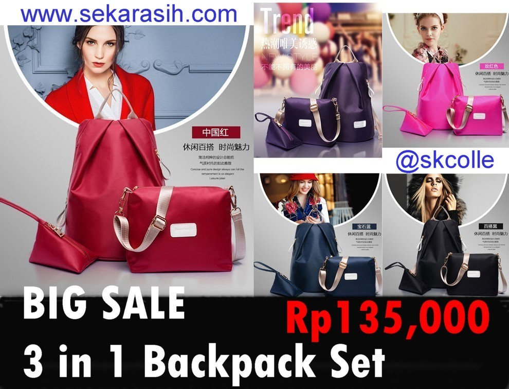PROMO BACKPACK SET 3 IN 1