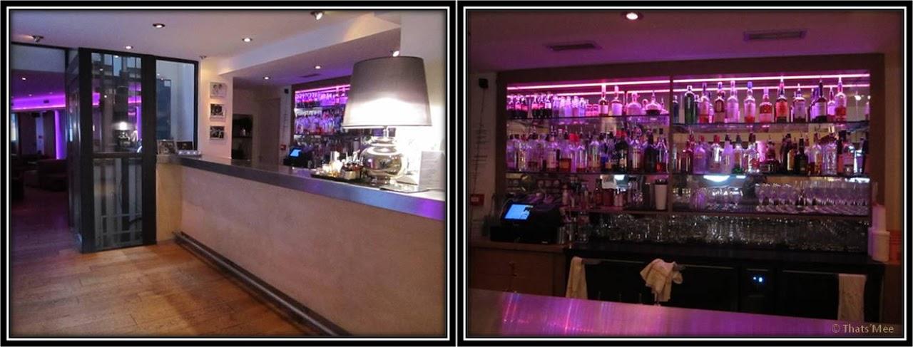 Le Patio Opéra Paris 9eme lounge violet fauteuil club