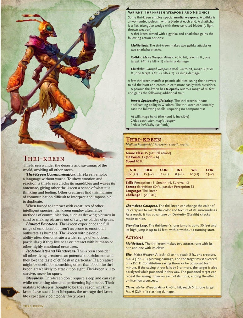 realms of chirak 5th edition thri kreen rh realmsofchirak blogspot com Dragons Monster Manual DD Monster Manual