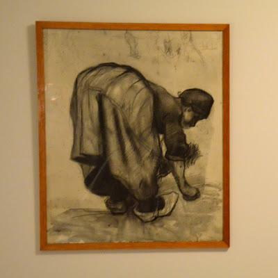 Arenlezende Boerin, 1885, Woman Gleaning, Van Gogh