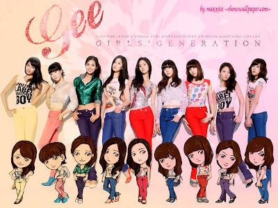 Most beautiful girls generation cartoon wallpapers
