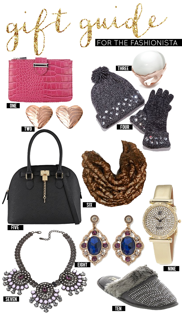 Gift Guide for the Fashionista (for $50 or less)!