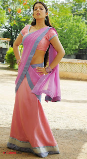 Charmee Kaur Latest  Pictures in Pink Half Saree ~ Celebs Next