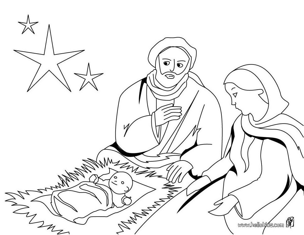 joseph mary baby jesus coloring page source fxy