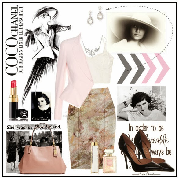 a coco chanel fashion look
