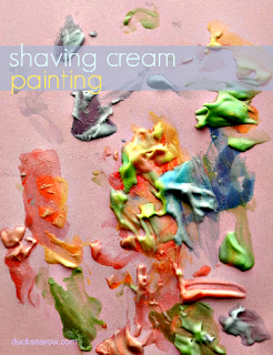 shaving cream art, paint w shaving cream, colored shaving cream, preschool crafts, kids crafts