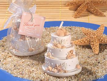 Beach cake candles