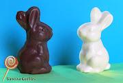 Conejo de Pascuas. Conejo de Pascua macizo, realizado en chocolate semi .