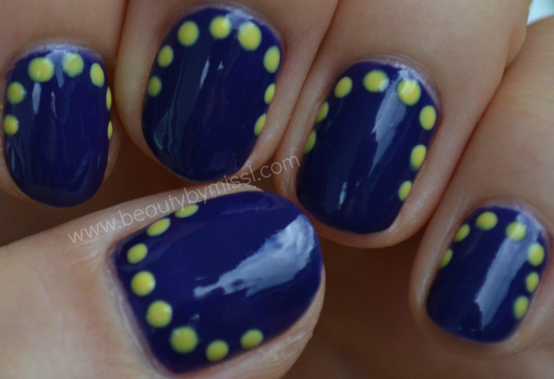 dotticure, indigo &yellow, manicure