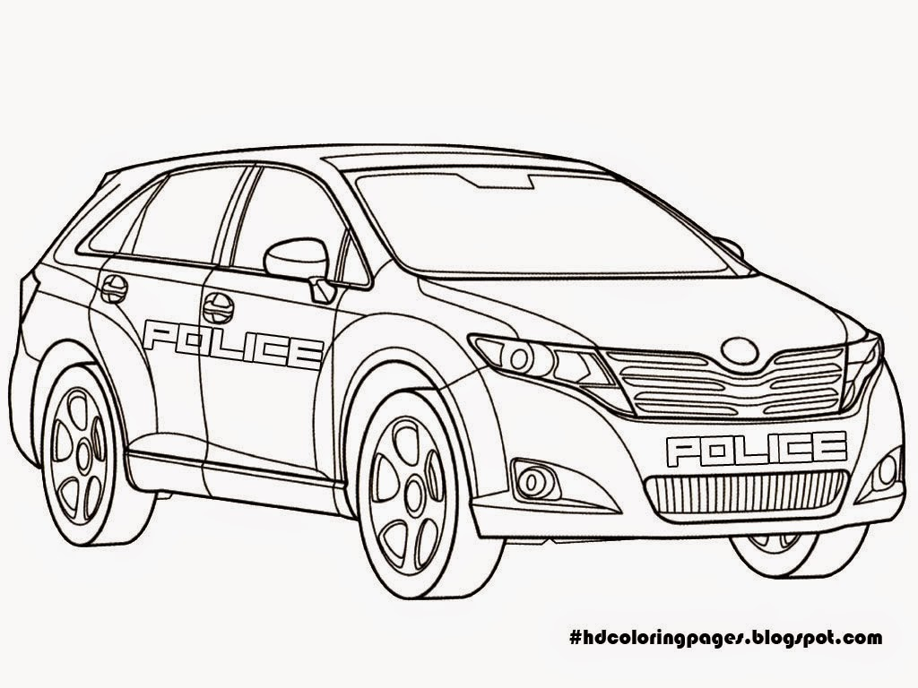 Free Printable Police Car Coloring Pages 8 Image