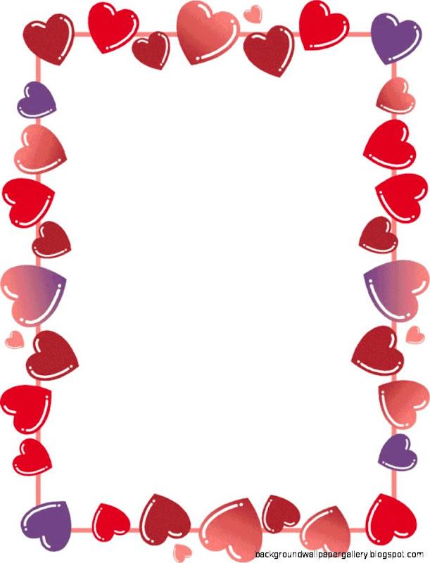 valentines days border clip art wallpaper background