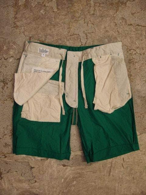 FWK by Engineered Garments Ghurka Short in Kelly Cotton Pima Poplin Spring/Summer 2014 SUNRISE MARKET