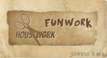A logo for the housework funwork series on Sandra's Ark Blog