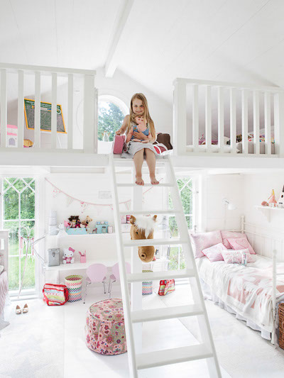 Anna truelsen inredningsstylist saga och selmas fina barnrum - Super cute teenage girls room ...