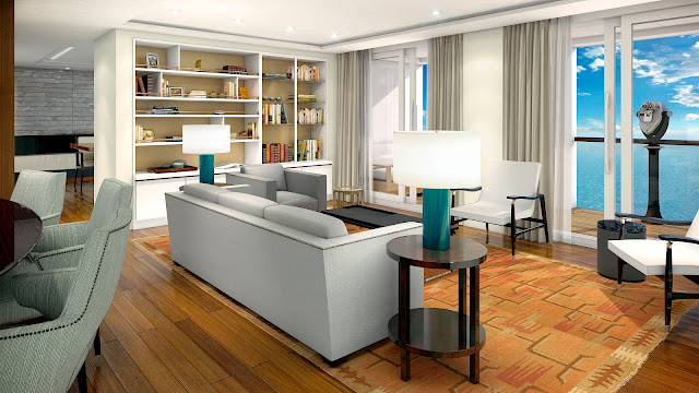 Owner's Suite Living Room.Photo: © Viking Cruises. Unauthorized use is prohibited.