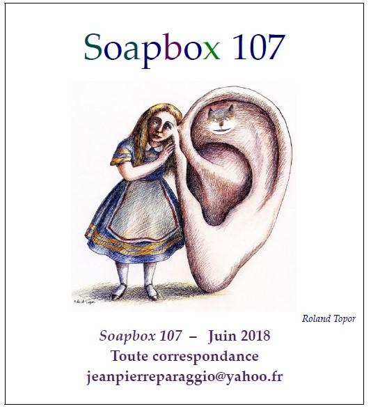 SOAPBOX 105, 106 & 107, Feuillets de l'umbo, Art & Poésie, été 2018