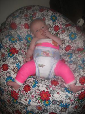 Our Little Hip Chick Got A Custom Made Bean Bag Chair From Grandma