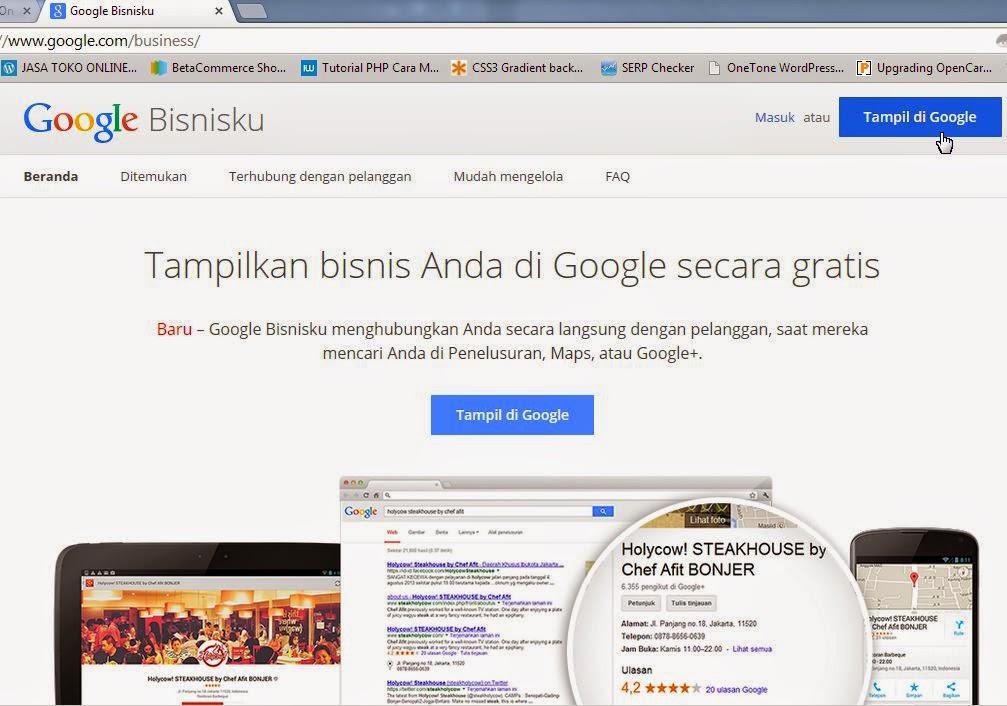 Homepage Google Bisnis