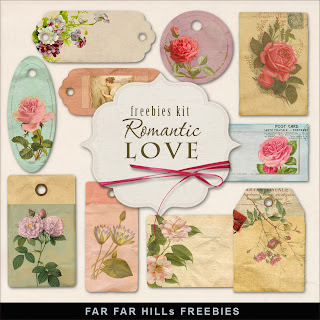 Freebies Kit of Labels - Romantic Love