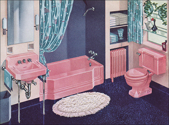 Booboo kitty couture my turquoise and pink bathroom for Turquoise and pink bathroom