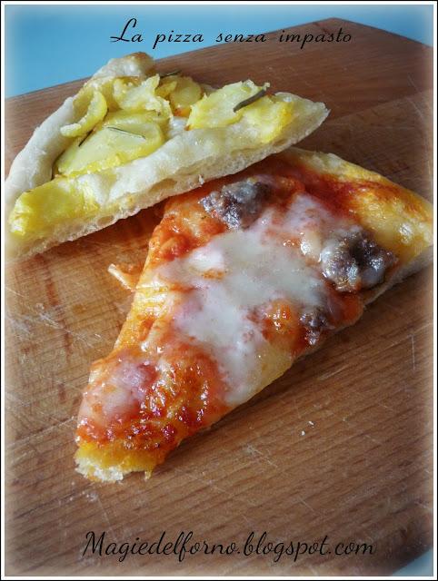 la pizza senza impasto