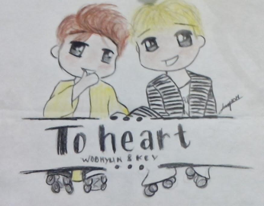 [FANART] 2HEART Woohyun&Key Chibi~  CYMERA_20140304_191435