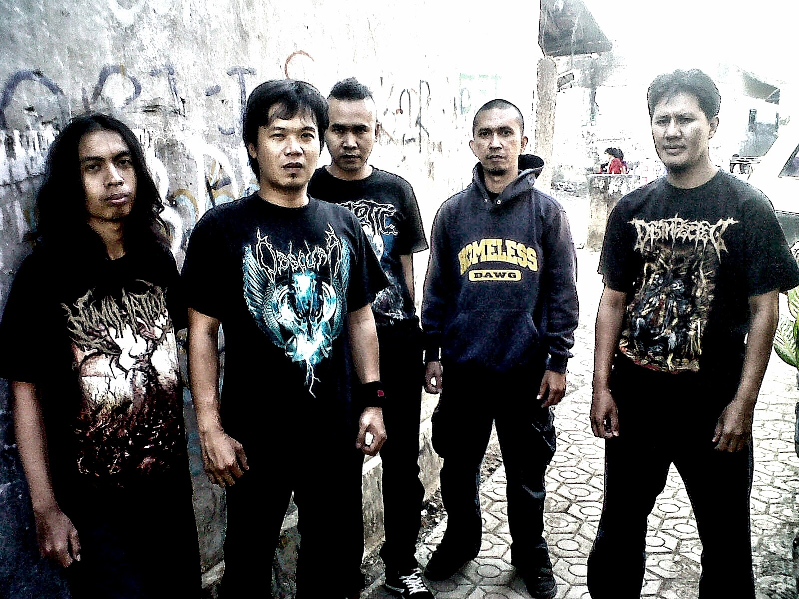 Busuk Webzine Old Site Interview Exclusive With Disinfected At Tendencies Tshirt Future Punk Hitam L Pieces Studio Ujung Berungwest Java Bandung Indonesia Sunday July 01 2012 1538 By Popo Demons Damn