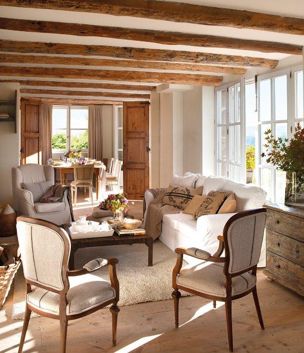 Una casa de campo confortable comfortable country house - Muebles casa de campo ...
