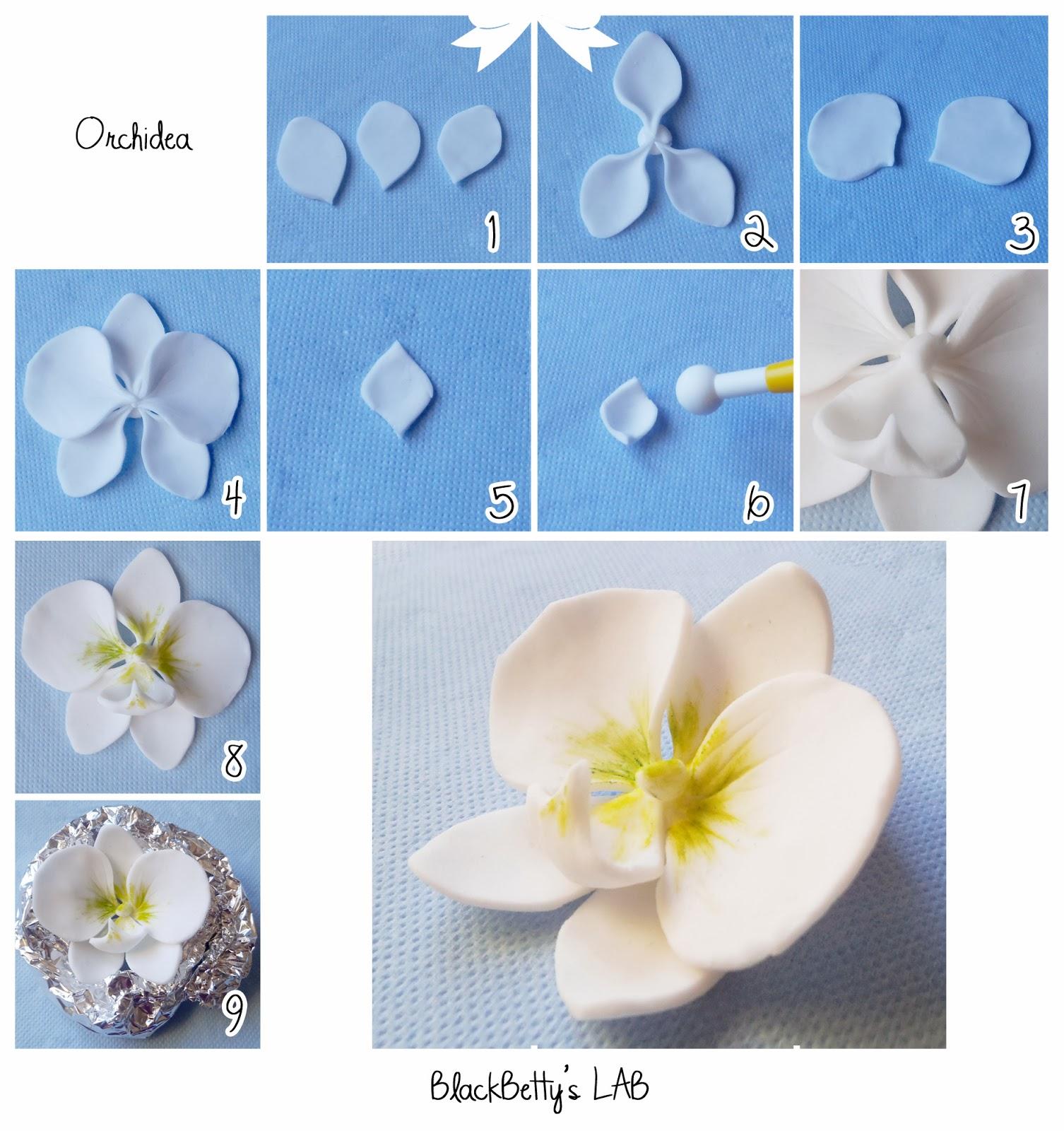 Cake Art Flower Moulding Paste Instructions : BlackBetty sLab: Tutorial orchidea in pasta di zucchero