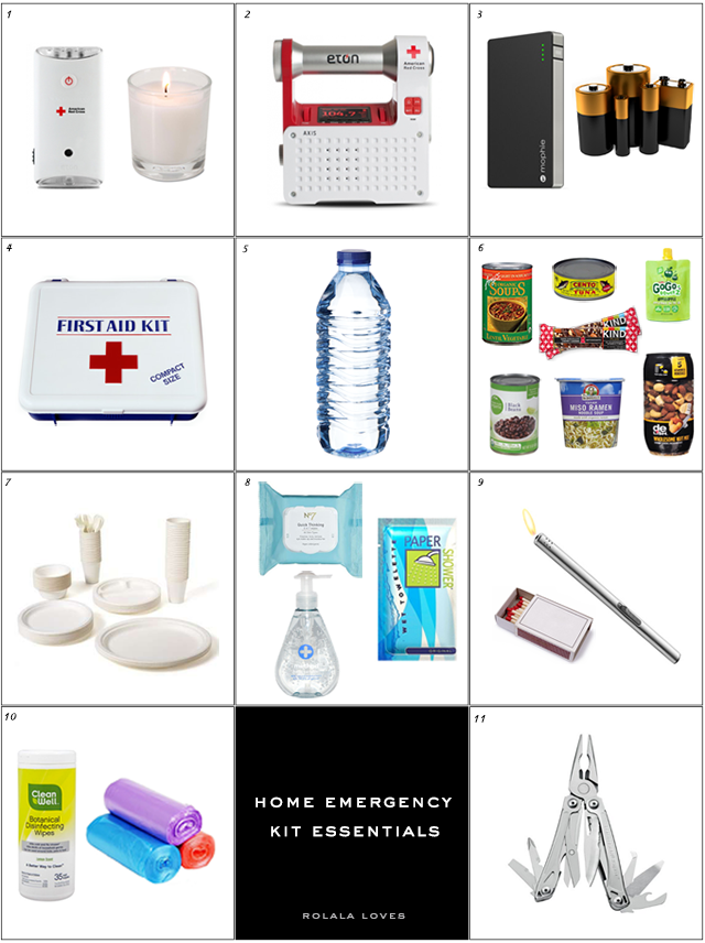 Make your own home emergency kit rolala loves for Building your own home checklist