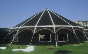 kaflerde kullanmak için yörük çadırı