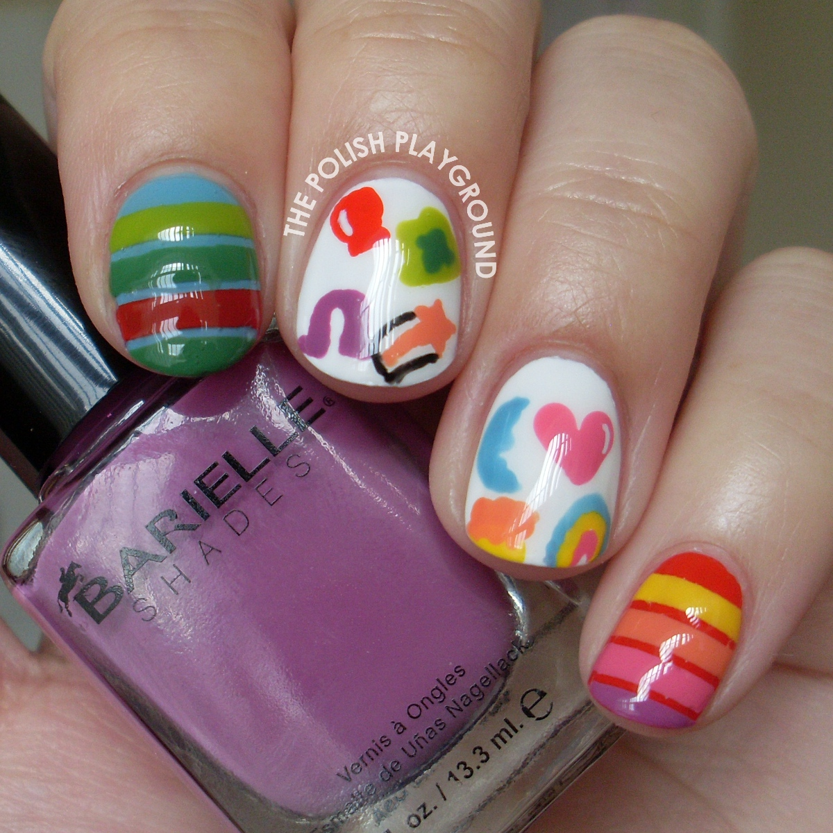 Lucky Charms Cereal Nail Art