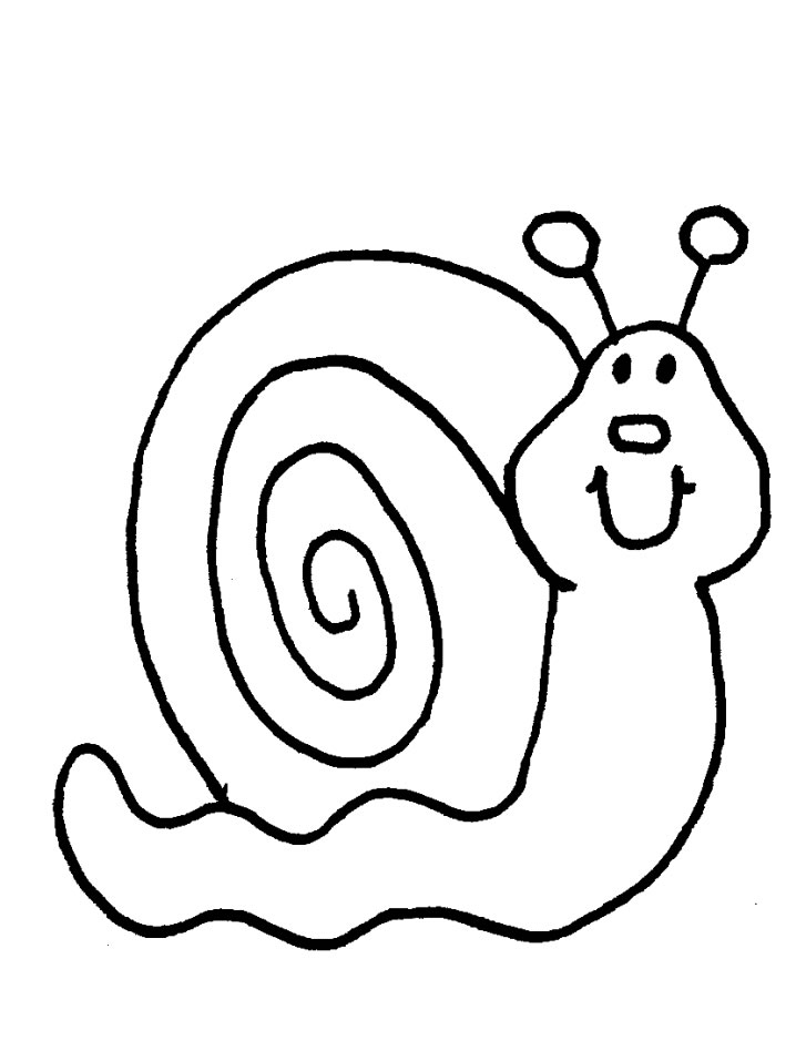 snail coloring pages animals - photo#19