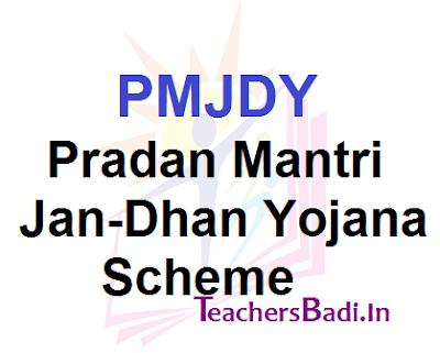 Pradan Mantri Jan-Dhan Yojana,PMJDY,Scheme