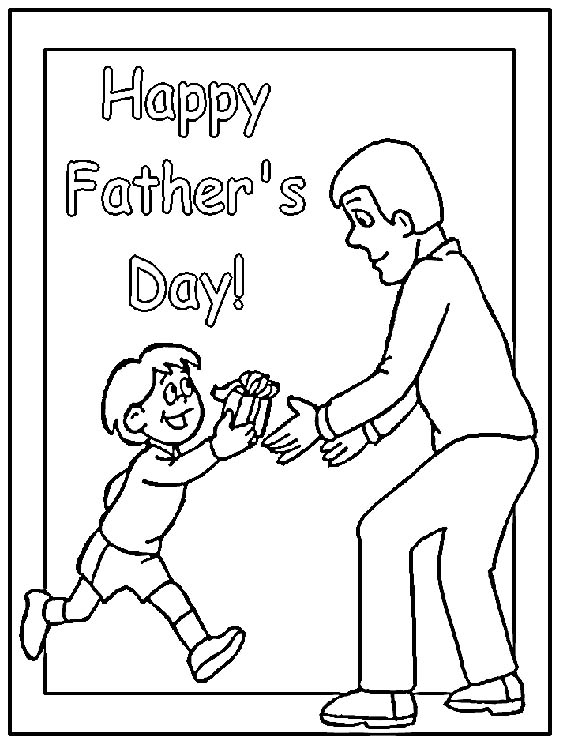 fathers day card coloring pages - photo#18