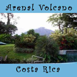 arenal volcano in costa rica puffing