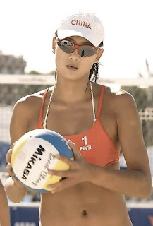 Hot Volleyball Player Xue Chen