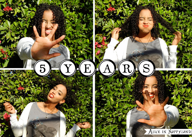 Alice of Alice in Nappyland 5 year natural hair journey