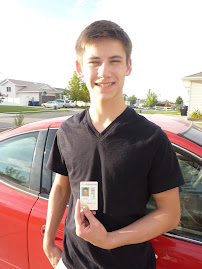 Rye and his driver's license:)  Look out people!!