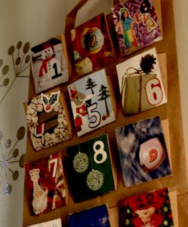 recycled greeting card crafts to make an advent calendar
