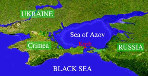 Harita 129 - azak denizi'nin konumu