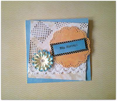Karteczka na wyzwanie craftowe.