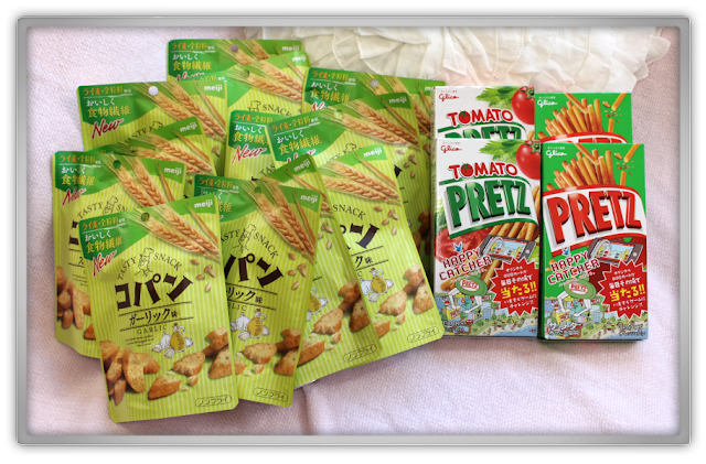 Candysan favorite Japanese Candy Haul Review pretz salade salad tomato Copan Garlic salty snacks