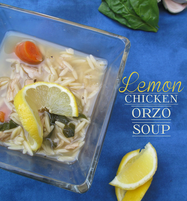 Healthy Lemon Chicken Orzo Soup Recipe from It's Always Ruetten